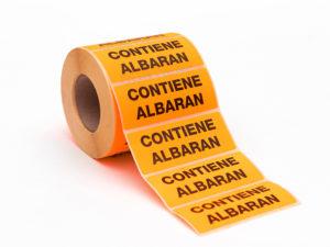 Etiquetas adhesivas contiene Albaran iluminado